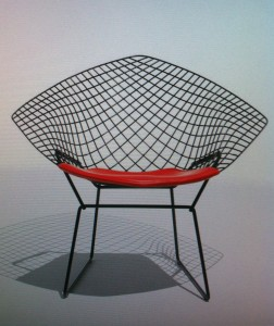 Elle Diamond Chair Harry Bertoia  for Knoll International 1952