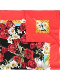 D&G Poppy Print scarf