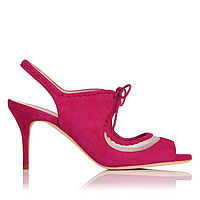 Lois Pink Leather Sandals (1)